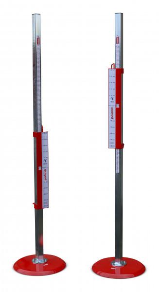 Saltómetros de salto de altura Polanik con múltiples soportes y sistema de seguridad
