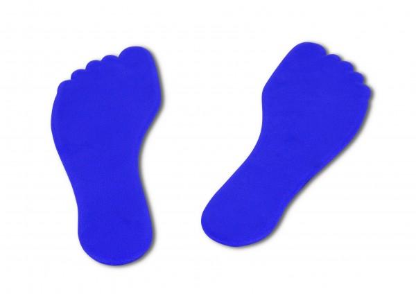 Paire de marquages au sol en forme de pieds