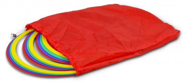 12 Anneaux multicolores de gymnastique et d'agilité avec sac