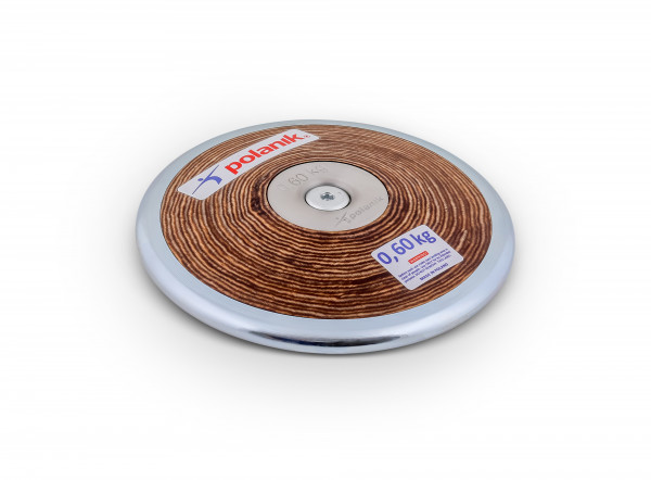 Polanik Wettkampfdiskus HPD17 Holz mit Mittelscheiben