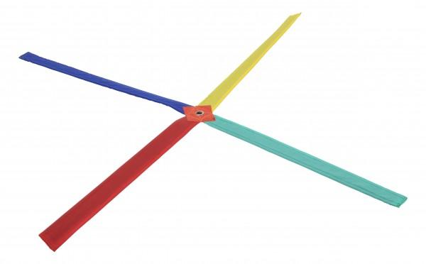 Mehrfarbiges Koordinationskreuz mit Beutel