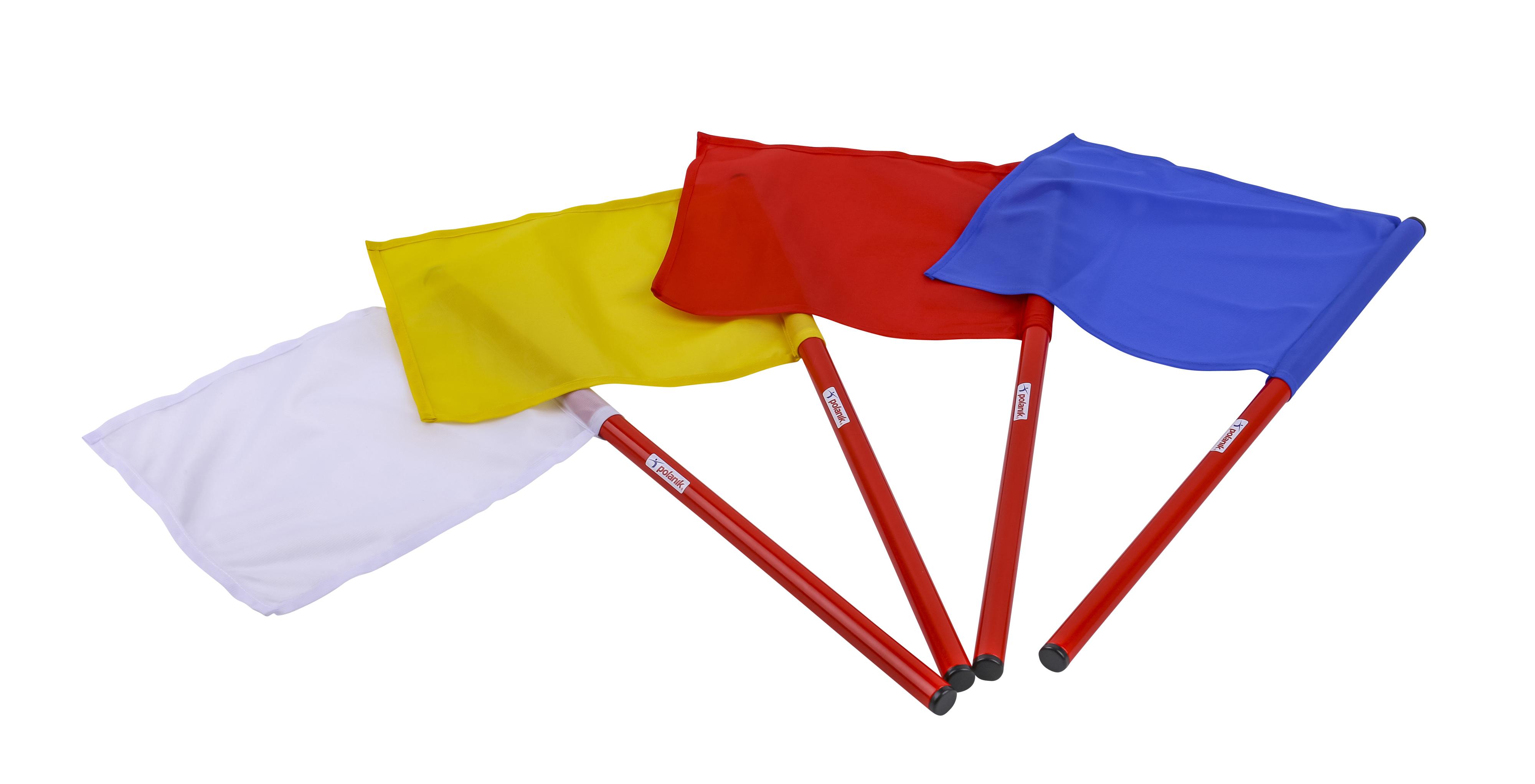 Blau POLANIK Kampfrichterfahnen Weiß Gelb Fahnen für Kampfrichter Rot