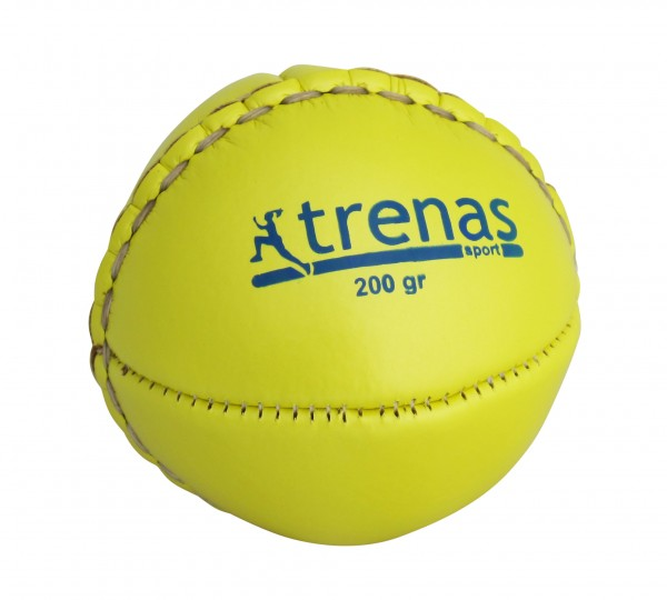 trenas Wurfball aus Leder - 200 g - Gelb
