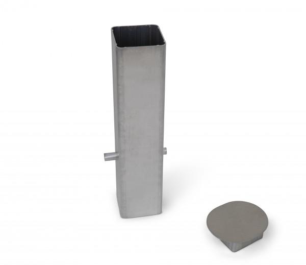 Embase pour poteau de 80 x 80 mm