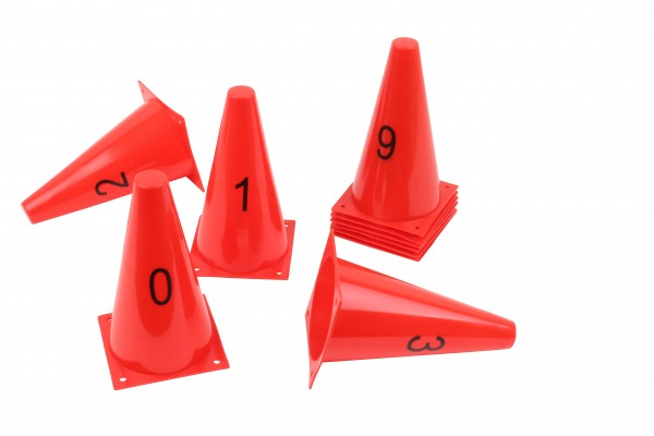 Numbered Cones from 0 to 9 - 23 cm