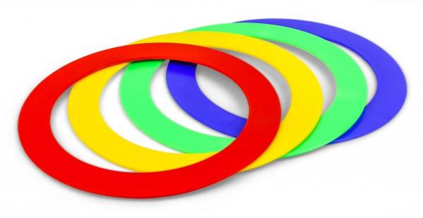 Set anelli da giocoleria colorato - 24 cm