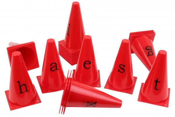 Kegelhütchen mit Buchstaben von A bis Z - 23 cm