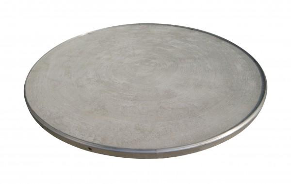 Círculo de lanzamiento de disco con superficie de hormigón