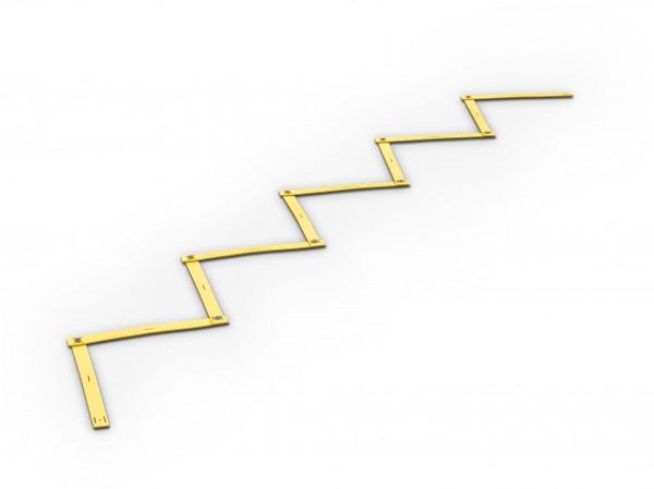 Rutschsichere Zick-Zack Koordinationsleiter - 4 m